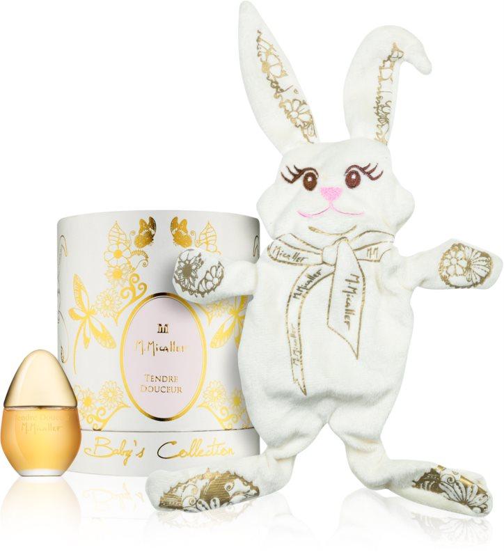 M. Micallef Baby's Collection Tendre Doucer parfumovaná voda pre deti 30 ml + hračka