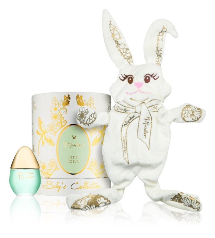 M. Micallef Baby's Collection Petit Coeur parfumovaná voda pre deti 30 ml + hračka