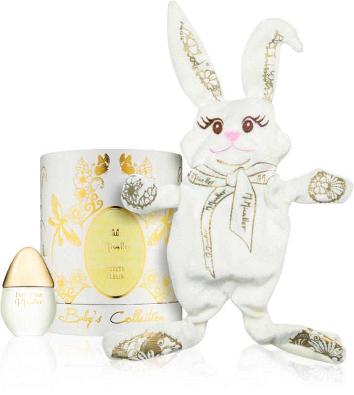 M. Micallef Baby's Collection Petite Fleur parfémovaná voda pro děti 30 ml + hračka