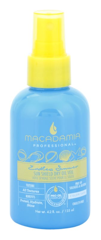 Macadamia Natural Oil Endless Summer suchý olej pro vlasy namáhané sluncem