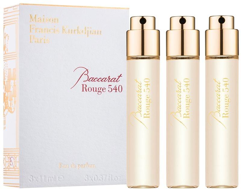 Maison Francis Kurkdjian Baccarat Rouge 540 Eau de Parfum unisex 3 x 11 ml Refill