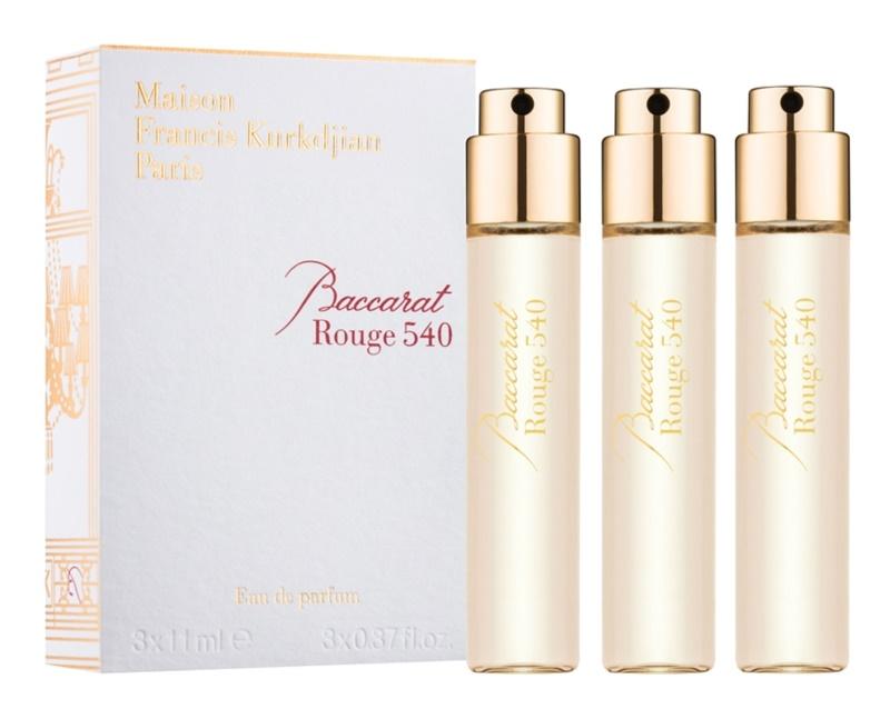 Maison Francis Kurkdjian Baccarat Rouge 540 eau de parfum unisex 3 x 11 ml rezerva