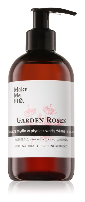 Make Me BIO Garden Roses Ošetrujúce tekuté mydlo na ruky  s pumpičkou