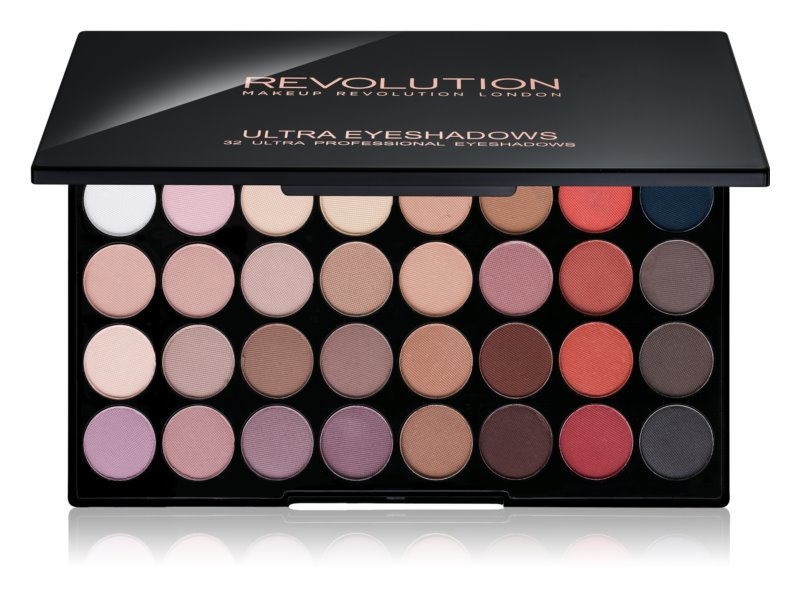 Makeup Revolution Flawless Matte 2 Eyeshadow Palette with Mirror