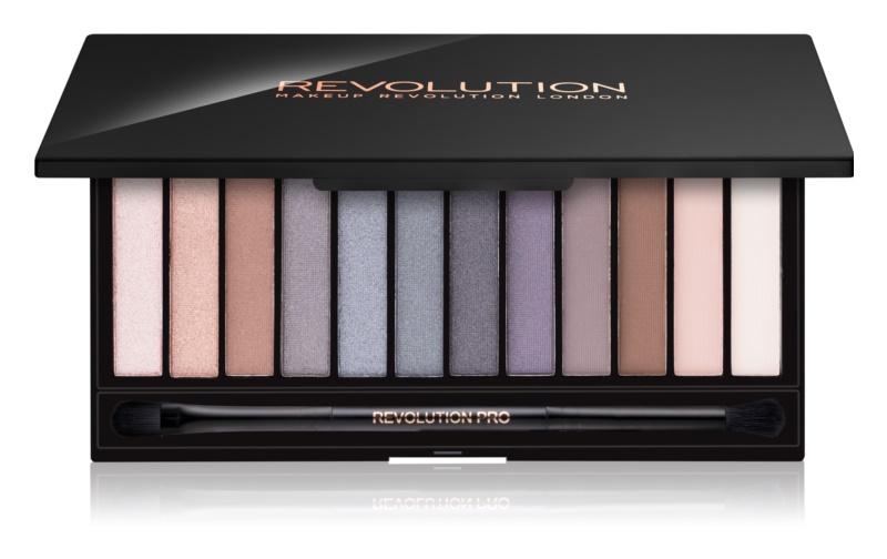Makeup Revolution Iconic Smokey paleta očných tieňov so zrkadielkom a aplikátorom