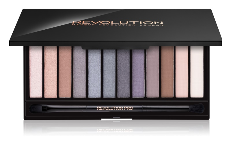 Makeup Revolution Iconic Smokey палітра тіней з дзеркальцем та аплікатором