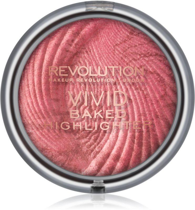 Makeup Revolution Vivid Baked zapečený rozjasňujúci púder