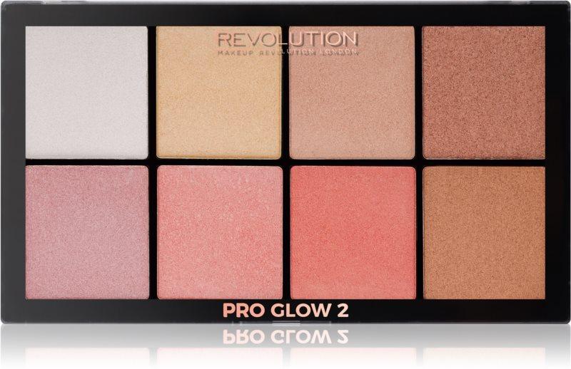 Makeup Revolution Pro Glow 2 paleta rozjasňovačů