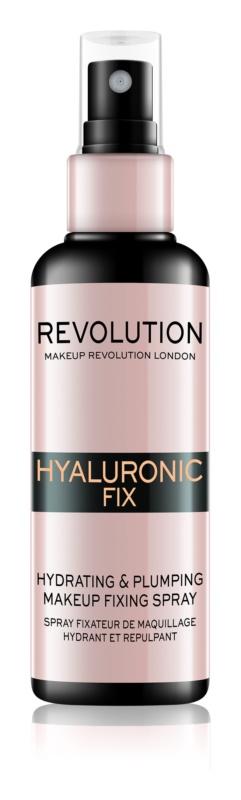 Makeup Revolution Hyaluronic Fix спрей-фіксатор макіяжу зі зволожуючим ефектом
