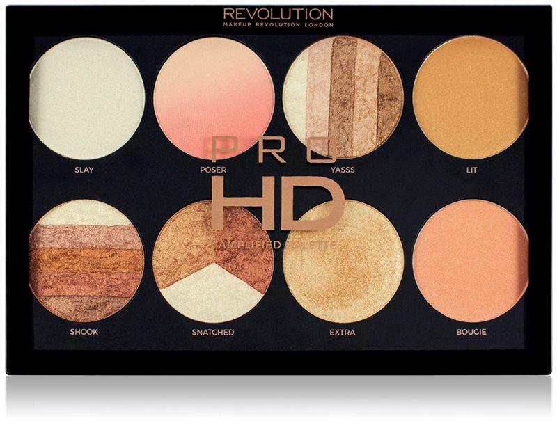 Makeup Revolution Pro HD Brighter Than My Future paleta rozjasňovačov