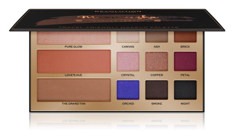 Makeup Revolution Maxineczka Beauty Legacy paleta multiusos para rostro y ojos