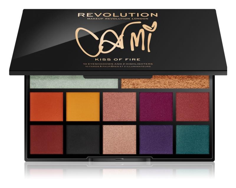 Makeup Revolution Carmi paleta očných tieňov a rozjasňovačov
