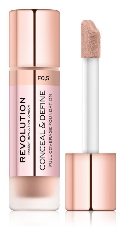 Makeup Revolution Conceal & Define prekrivni tekoči puder
