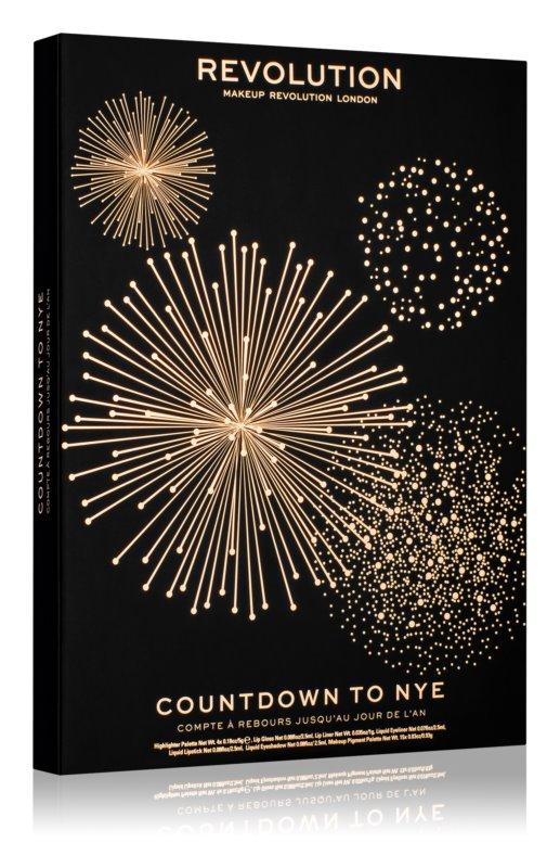 Makeup Revolution Countdown to NYE calendrier de compte à rebours avant le Nouvel An