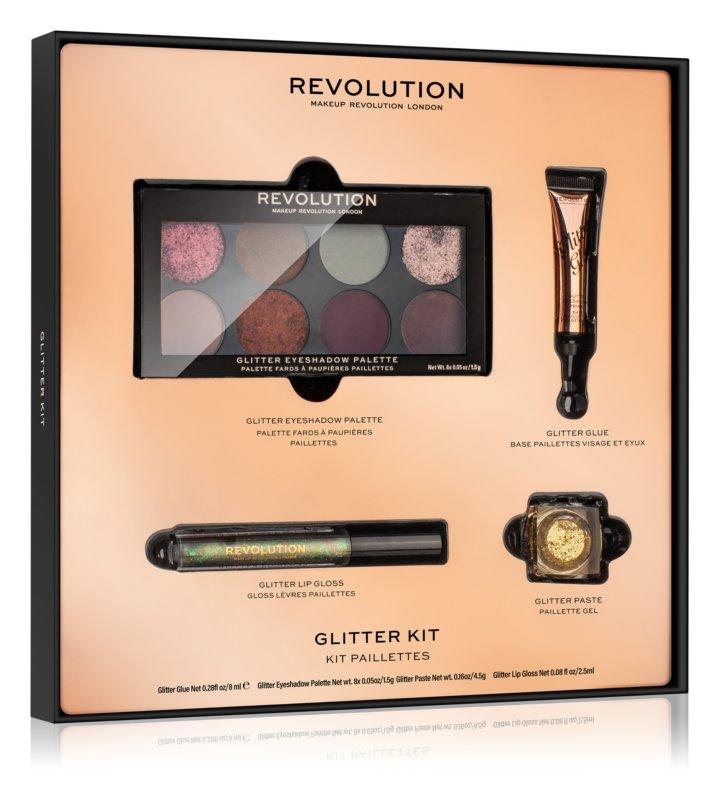 Makeup Revolution Glitter Kit trblietavá sada