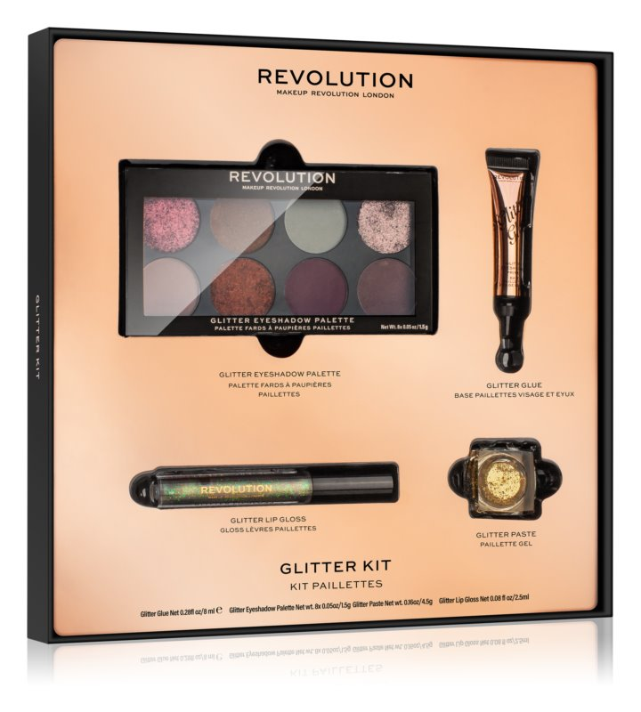 Makeup Revolution Glitter Kit třpytivá sada