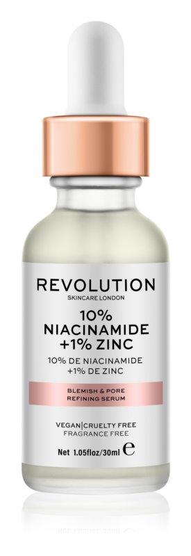 Makeup Revolution Skincare 10% Niacinamide + 1% Zinc serum za razširjene pore