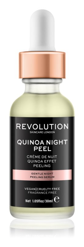 Makeup Revolution Skincare Quinoa Night Peel jemné noční peelingové sérum