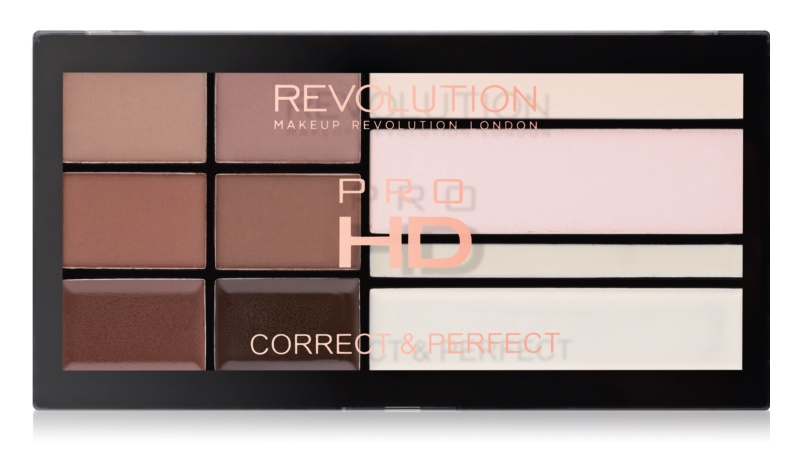Makeup Revolution Pro HD Brows paleta pentru machiaj sprancene