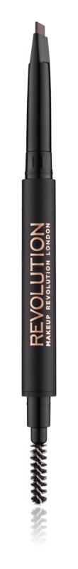 Makeup Revolution Duo Brow Definer pincel de precisión para cejas