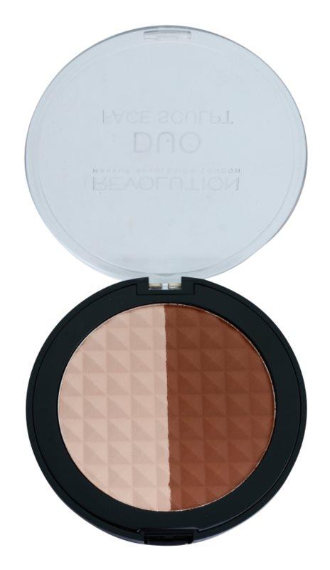 Makeup Revolution Duo bronzer a rozjasňovač 2v1
