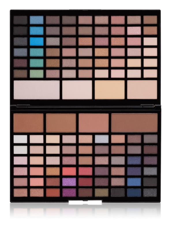 Makeup Revolution Pro HD Eyes & Contour paletă cu umbre de ochi și pulberi de conturare cu efect de iluminare