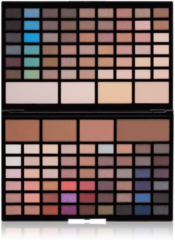 Makeup Revolution Pro HD Eyes & Contour szemhéjfesték kontúrozó púder paletta  élénkítővel
