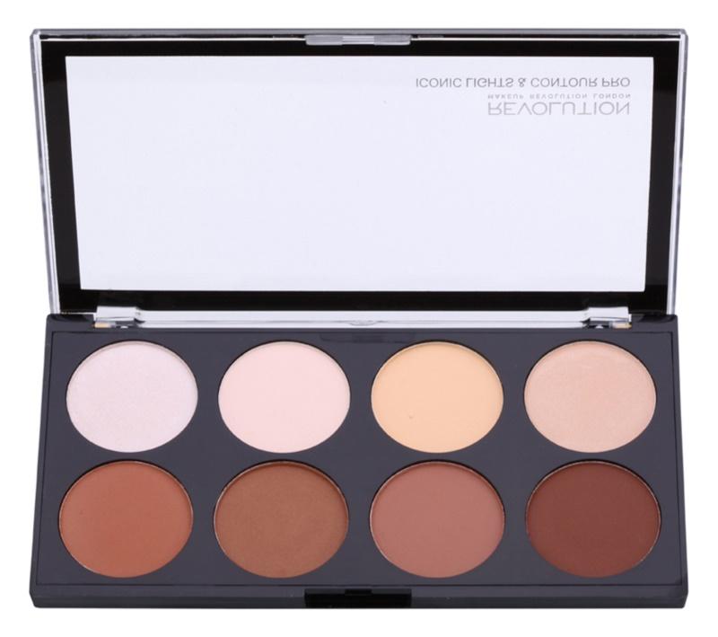 Makeup Revolution Iconic Lights and Countour Pro paleta pentru contur facial