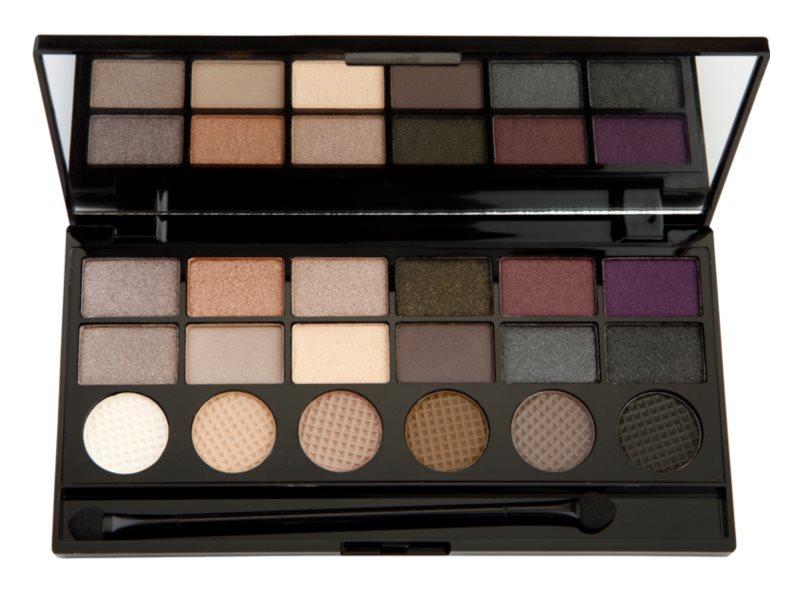 Makeup Revolution Hard Day paleta očních stínů
