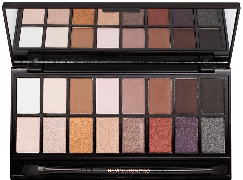 Makeup Revolution Iconic Pro 1 paleta očních stínů se zrcátkem a aplikátorem