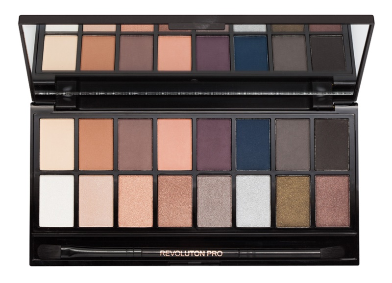 Makeup Revolution Iconic Pro 2 paleta farduri de ochi cu oglinda si aplicator