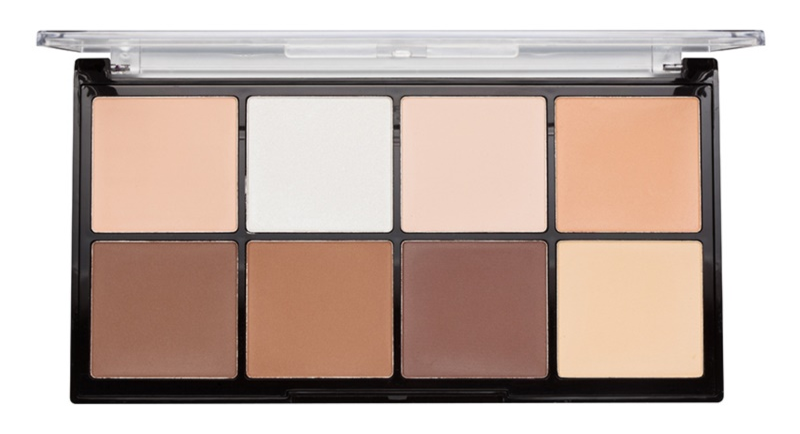 Makeup Revolution Ultra Pro HD Light Medium paleta na kontúry tváre púdrová