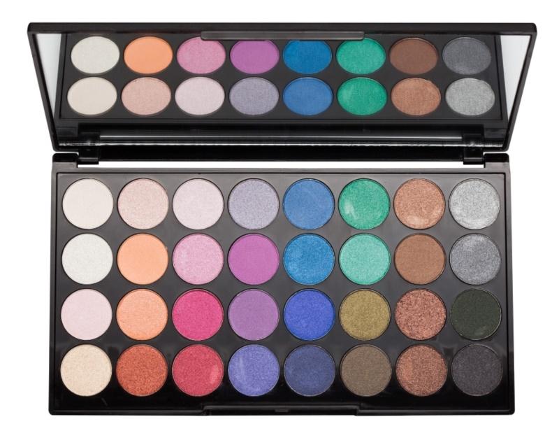Makeup Revolution Mermaids Forever paleta farduri de ochi cu oglinda mica