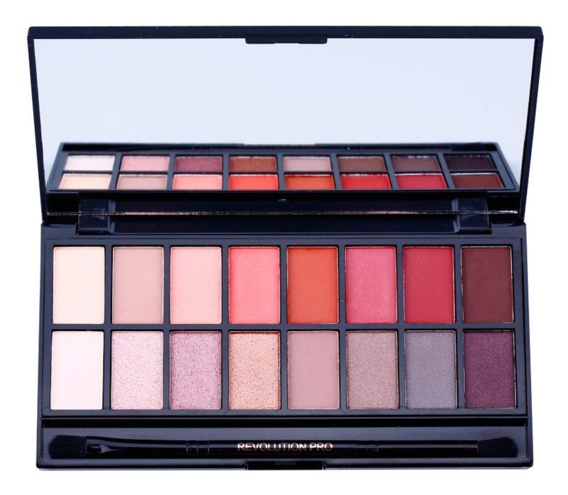 Makeup Revolution New-Trals vs Neutrals paleta farduri de ochi cu oglinda si aplicator