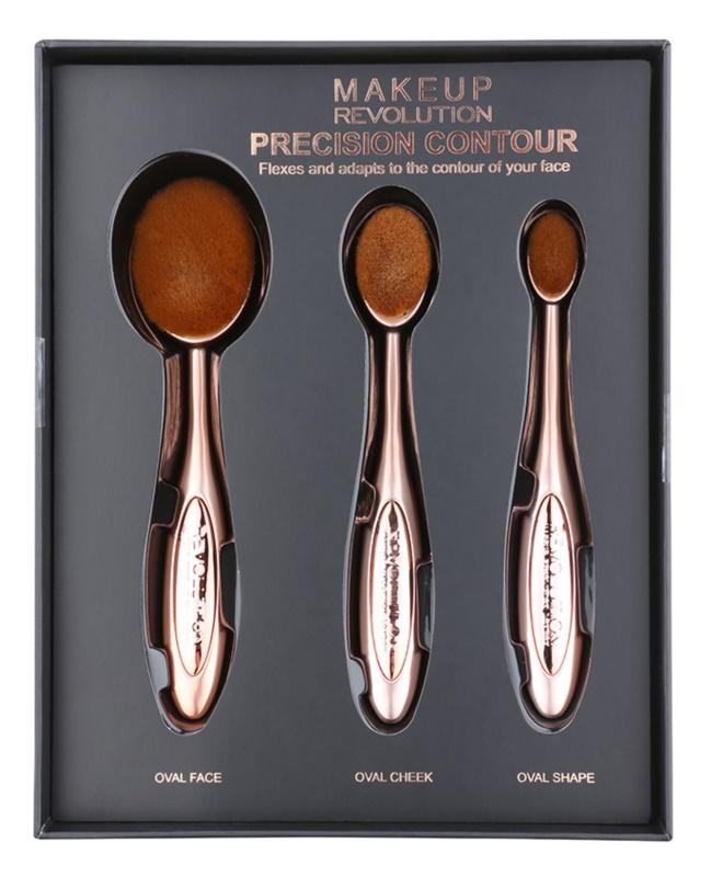 Makeup Revolution Pro Precision Brush sada štetcov na kontúrovanie