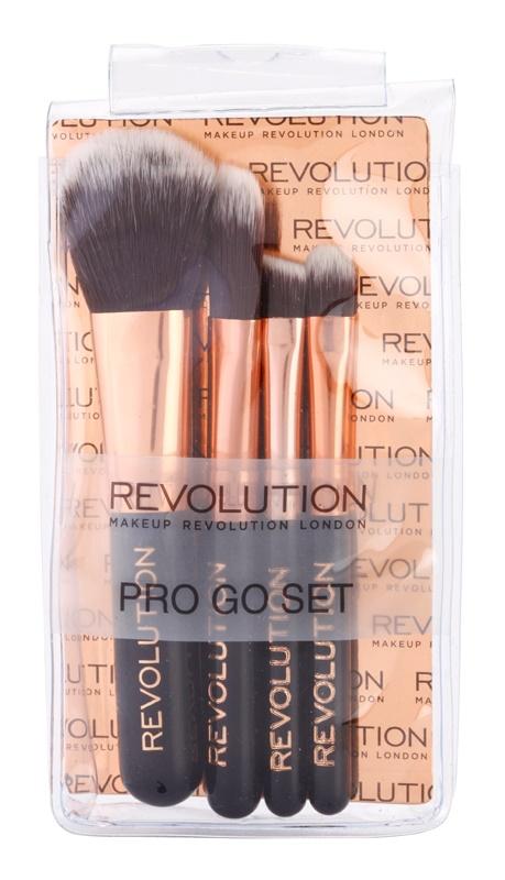 Makeup Revolution Pro Go Set set de mini-pensule pachet pentru calatorie