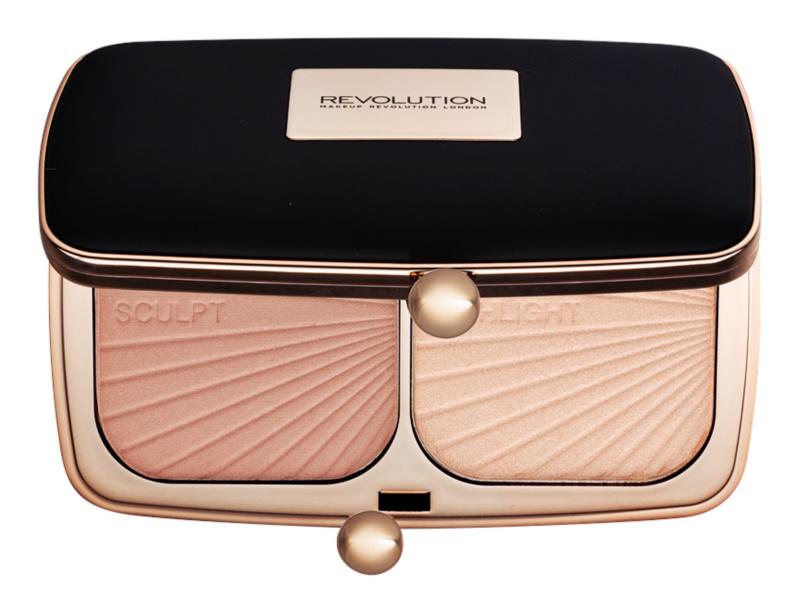 Makeup Revolution Renaissance Glow Krémes highlight és kontúr paletta