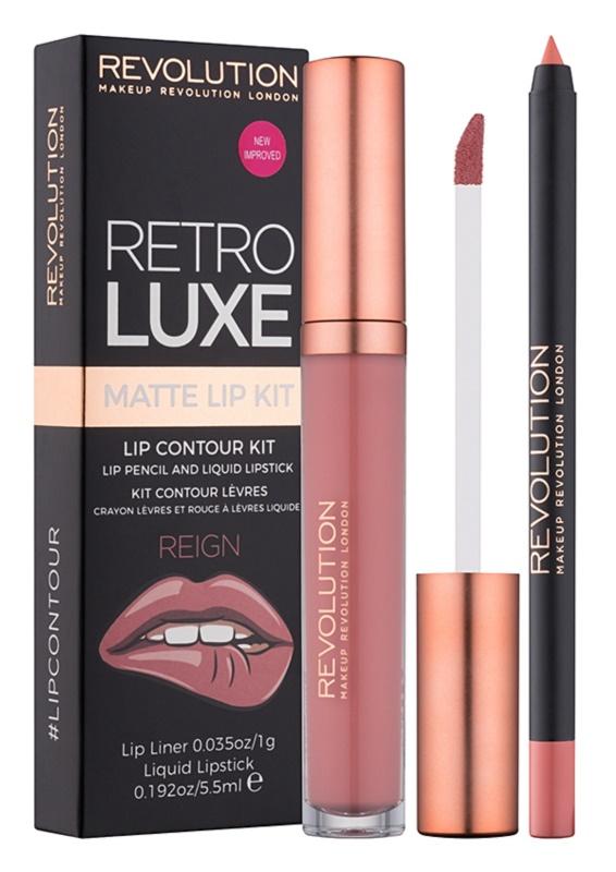 Makeup Revolution Retro Luxe матуючий набір для губ