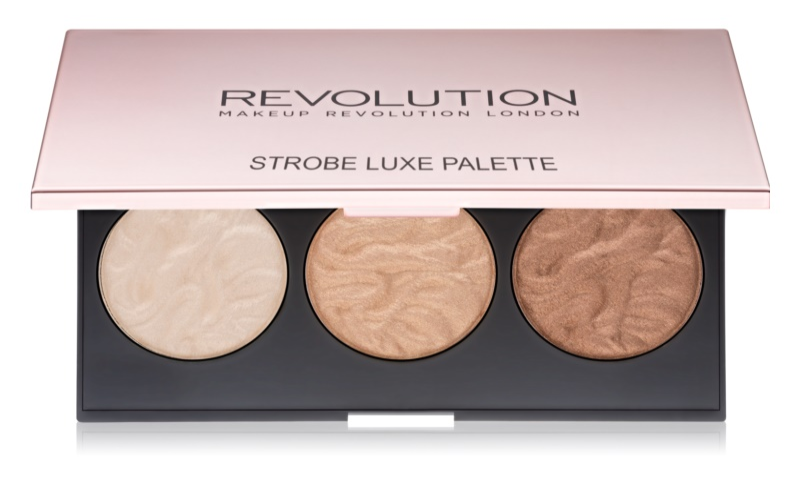 Makeup Revolution Strobe Luxe paleta rozjasňovačov