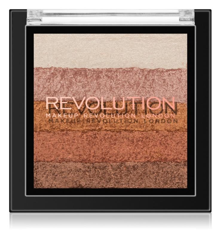 Makeup Revolution Shimmer Brick бронзер та освітлювач 2 в 1