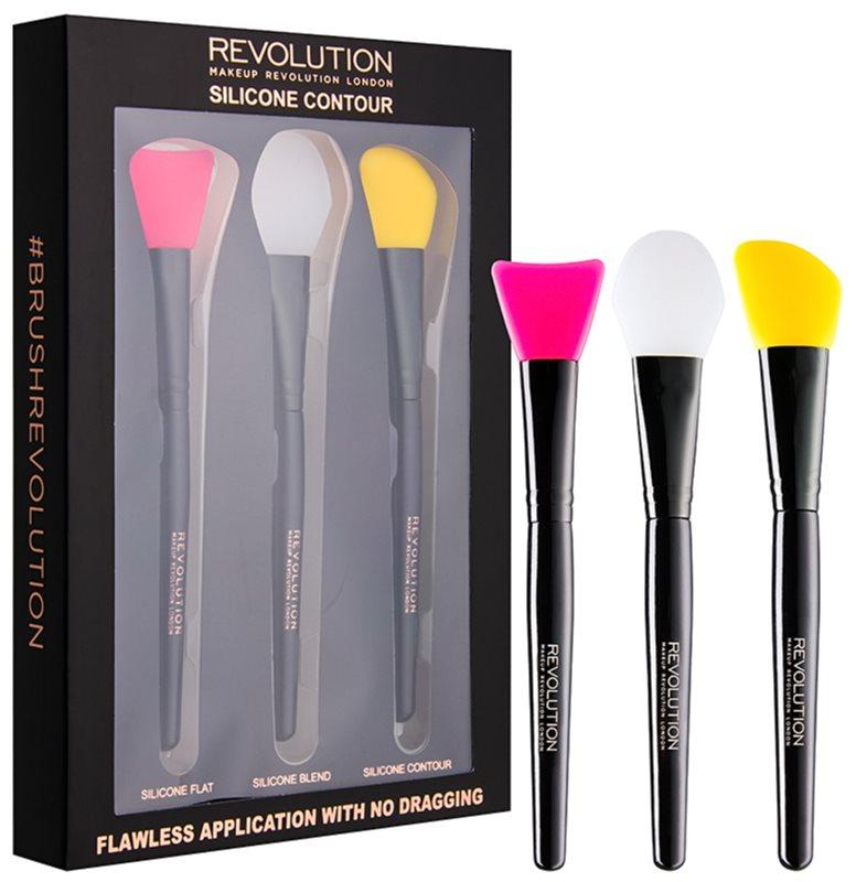 Makeup Revolution Silicone Contour sada silikonových štětců na konturování