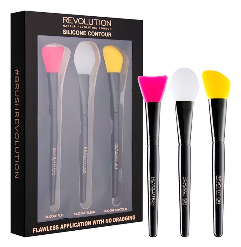 Makeup Revolution Silicone Contour Set Siliconen Penselen voor Contouren