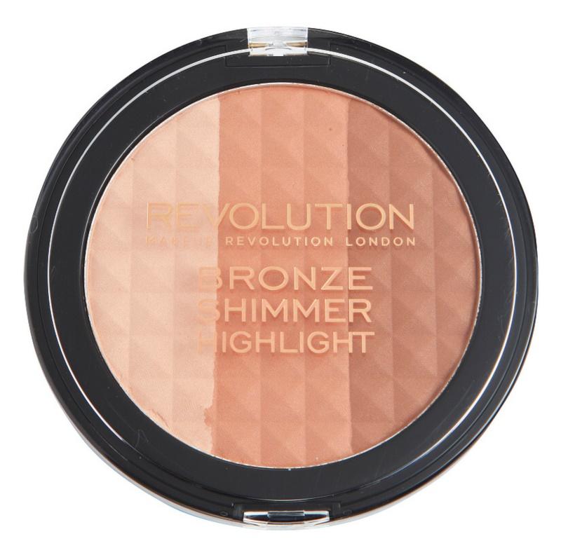 Makeup Revolution Ultra Bronze Shimmer HIghlight bronzujúci rozjasňujúci púder