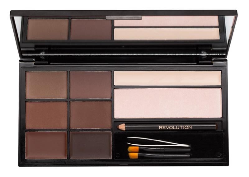 Makeup Revolution Ultra Brow paleta pre líčenie obočia