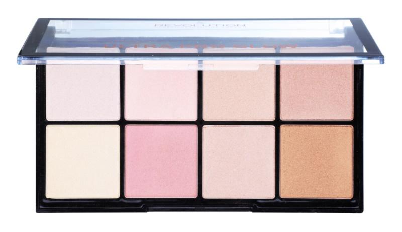 Makeup Revolution Ultra Pro Glow paleta rozjasňovačov