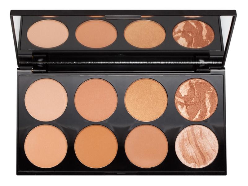 Makeup Revolution Ultra Bronze paleta na kontury obličeje