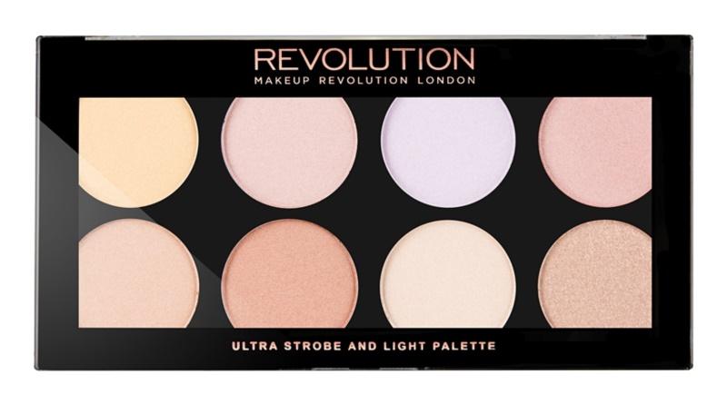 Makeup Revolution Ultra Strobe and Light rozjasňujúca paletka