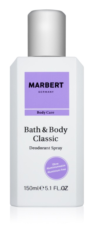 Marbert Bath & Body Classic Deo-Spray für Damen 150 ml
