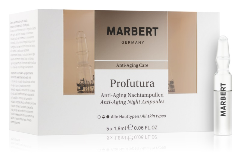 Marbert Anti-Aging Care Profutura nočné ampuly proti starnutiu pleti