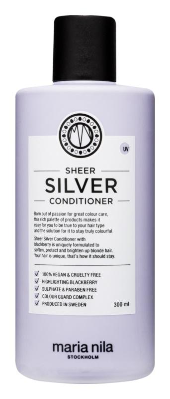Maria Nila Sheer Silver hydratační kondicionér neutralizující žluté tóny bez sulfátů a parabenů